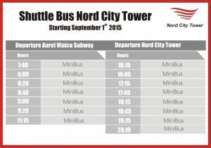 orar shuttle bus NCT